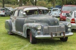 Tia Loco and her 41 Cadillac la Salle