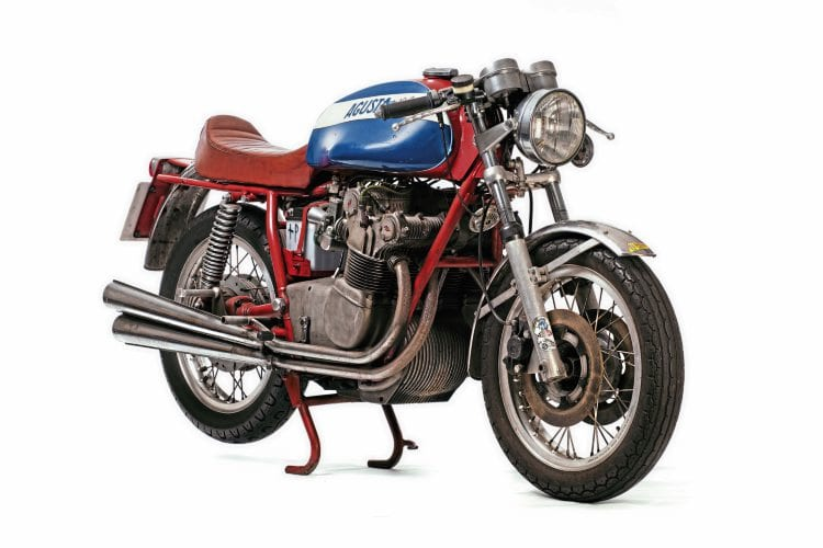 MV 500 triple: One of several 're-creations' of famous racers in the Robert White collection, this MV Agusta three-cylinder Grand Prix 500 replica might just drive the bidding up to six figures…