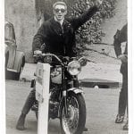 Steve McQueen on a Triumph