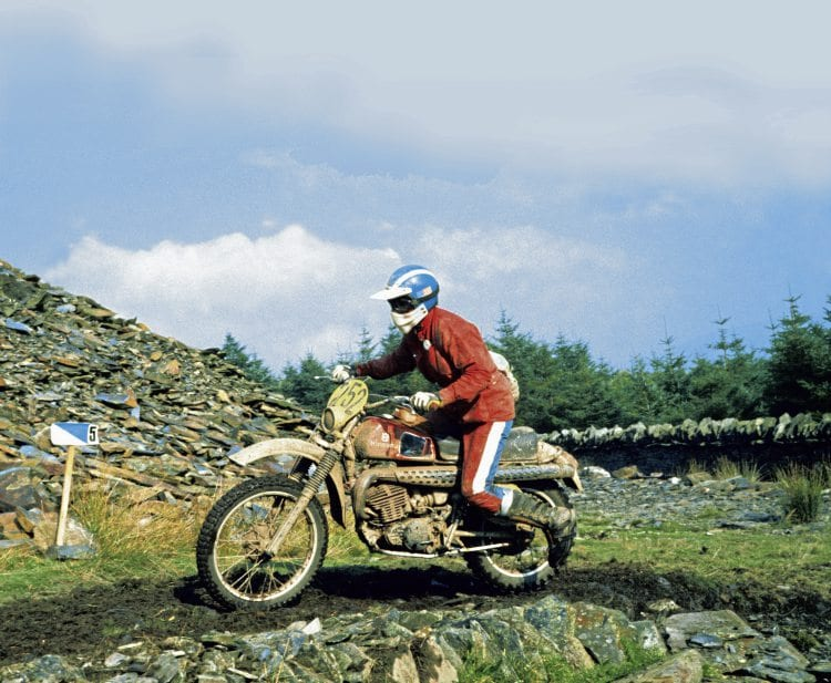 Malcolm Smith on a Husqvarne in the 1975 ISDT