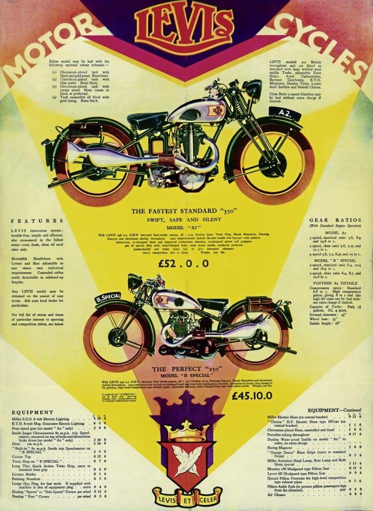1932 Levis sales brochure
