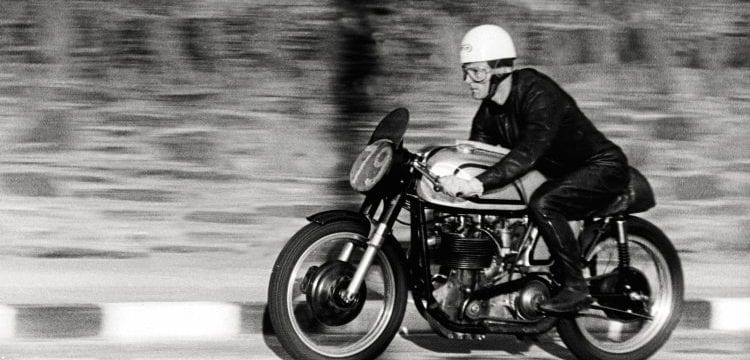 Ron Langston, in only his third roadrace, stunned onlookers by finishing runner-up in the 1959 Manx GP.