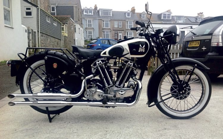 Wow. Les Phelps' Matchless Model X SS100 marries a Matchless V-twin ohv engine with Model X cycle parts.