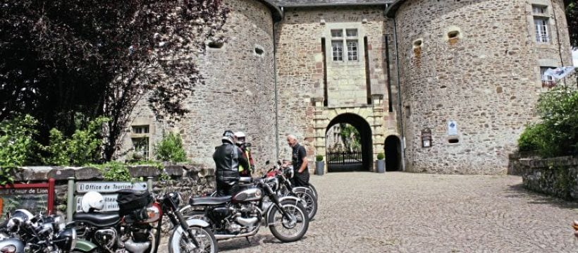 Ride-out destination: the Chateau at Arnac Pompadour. Brian Pollitt lives there. Well, not in the Chateau.