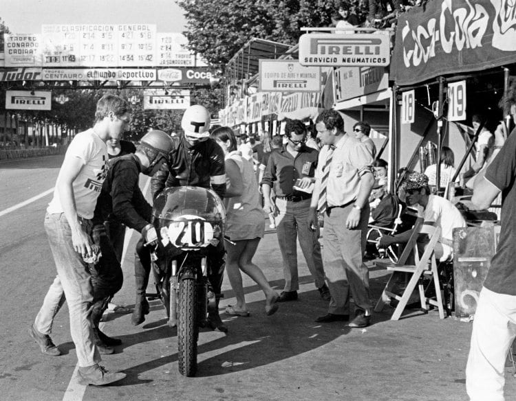 Twenty-four hour Triton Barcelona 1970 - Dave Degens and team-mate Ian Goddard stormed to victory in the gruelling event.