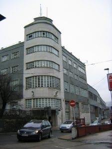 The former Lambretta Locomociones SA administrative building