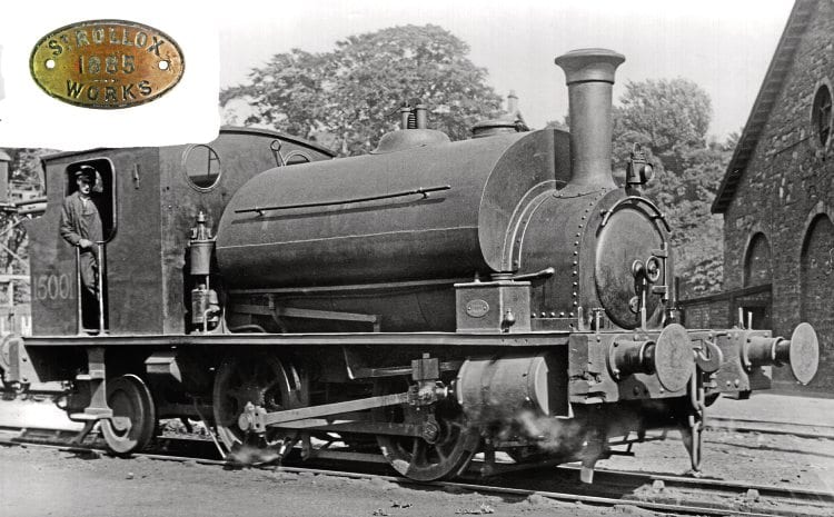 I'm in charge: The driver of LMS 0-4-2T No. 15001 poses with his charge on Inverness shed in June, 1936, with the worksplate clearly visible on the sandbox above the cylinder. Inset: The worksplate from the ex-Caledonian Railway loco that will be coming up for sale on October 1. CALEDONIAN RAILWAY ASSOCIATION/GNRA
