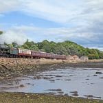 LMS 4-6-0 No. 46100 Royal Scot passes Culross with a Scotrail 'Forth Circular' trip on August 13. TREVOR GREGG