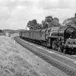 A previously-unpublished view of No. 71000 Duke of Gloucester on the Crewe-Shrewsbury line in 1955. PETER KENYON