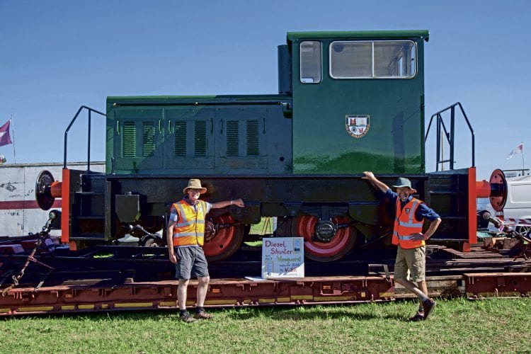 The Thomas Hill Vanguard shunter at the Gloucestershire Vintage and Country Extravaganza. VOBR