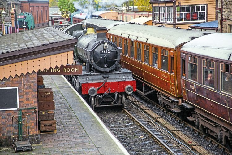 GWR 4-6-0 No. 7812 Erlestoke Manor at Bridgnorth station, which is now set to be upgraded into one of the finest heritage railway termini in the UK. SVR
