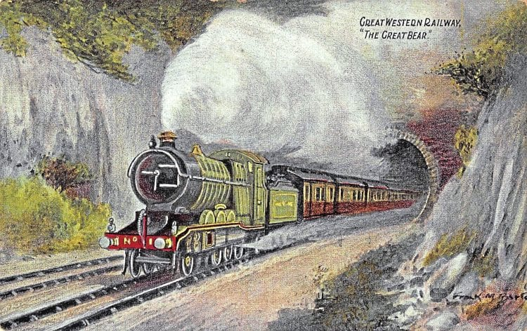 A GWR postcard of Britain's first Pacific, No. 111 The Great Bear. ROBIN JONES COLLECTION