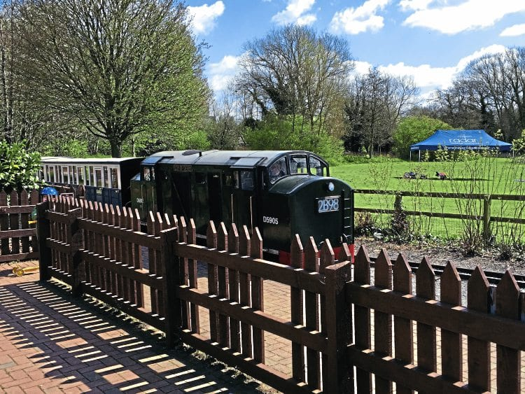 A diesel-hauled service train at Markeaton station on April 23. MATT BROWN/CREATIVE COMMONS