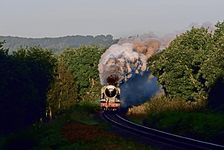 Flying Scotsman heads away from Bewdley towards Kidderminster light engine. GRAHAM NUTTALL