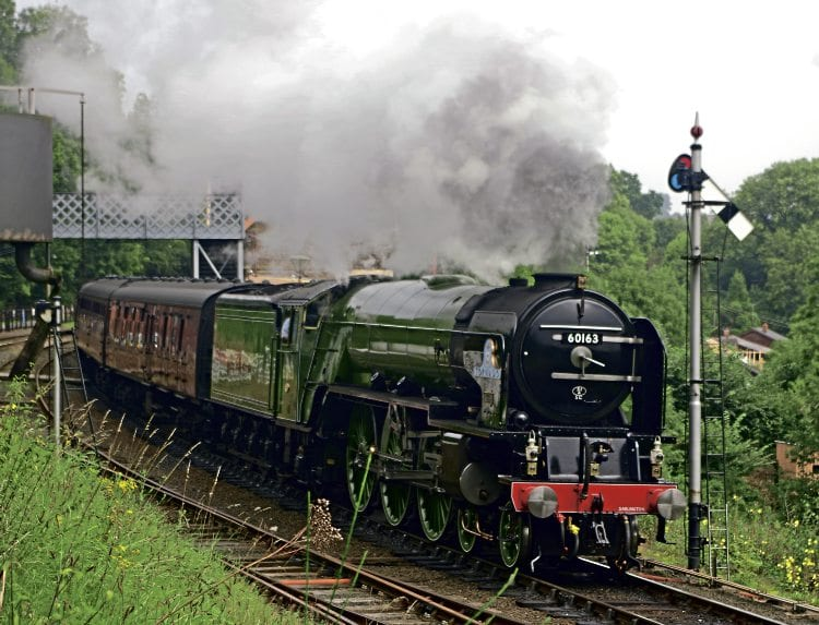Peppercorn A1 Pacific No. 60163 Tornado makes a spirited departure from Highley on September 21, the first day of the Severn Valley Railway's Pacific Power event which also starred Flying Scotsman and drew record crowds of 45,000. See News Focus Special feature, pages 52-57.