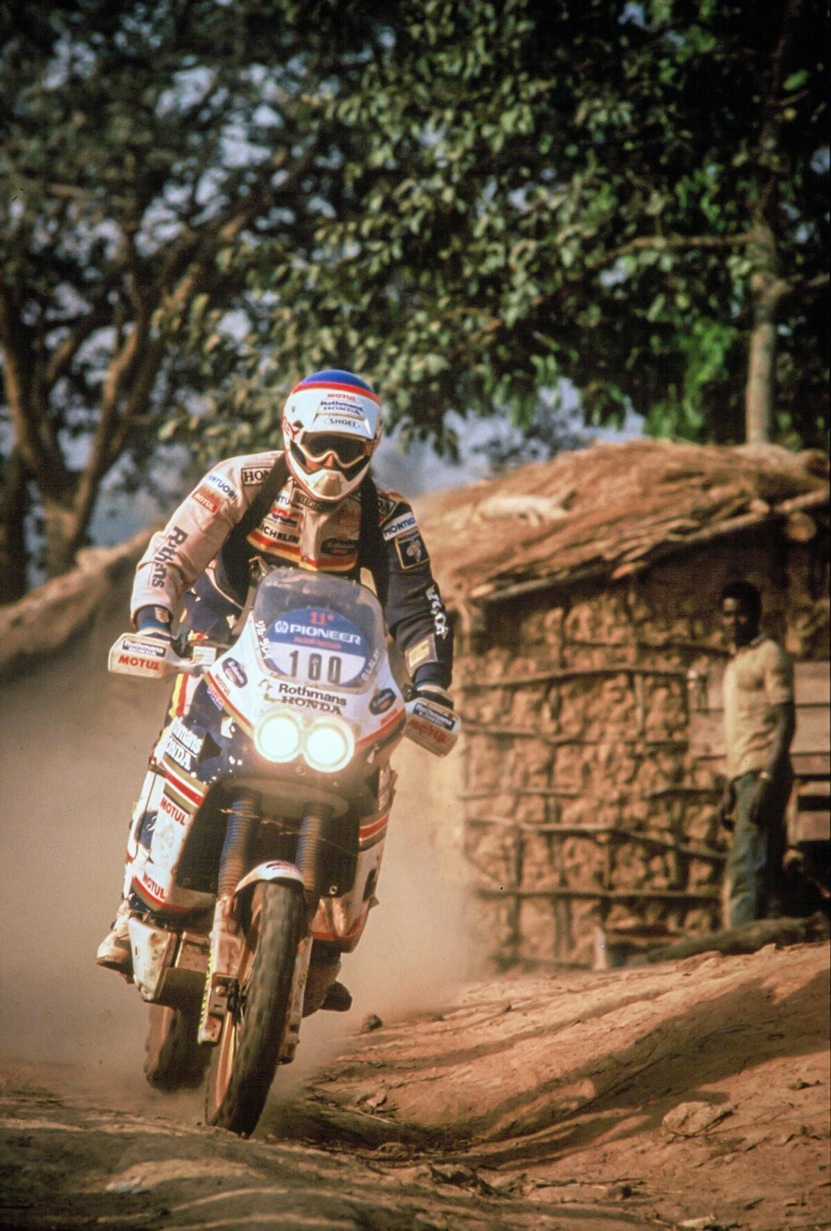 Gilles Lalay takes first in the 1989 Paris-Dakar on HRC's NXR750 – the father of the Africa Twin.