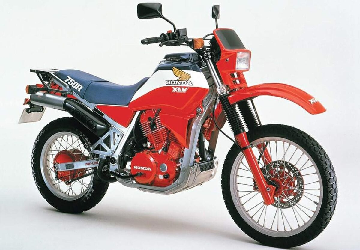 The XLV750R Was Honda's first adventure-style bike, though it wasn't considered viable in the dirt.
