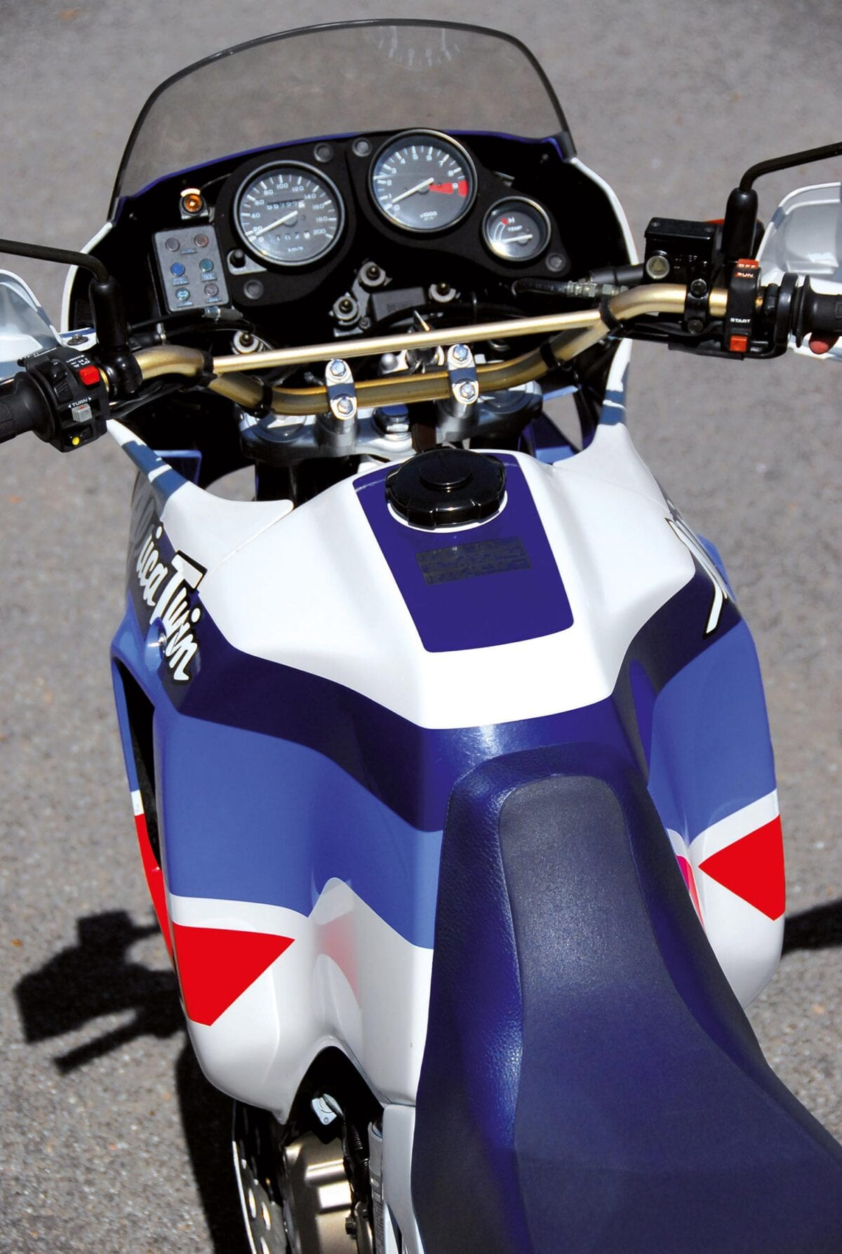 The Africa Twin's tank caused headaches when it came to production.