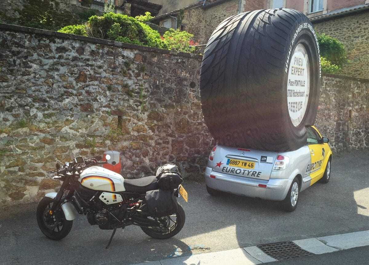 This rubber wouldn't look out of place on a bike at Wheels & Waves.