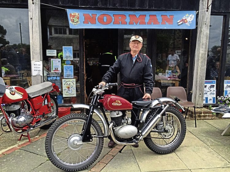 Piers rightly looked proud when he took his machine to the Norman Club's May meeting in Ashford.