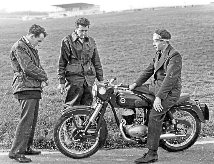 The 1950s/60s Dot roadsters were cleanly styled, and the front fork made them stand out from the crowd.