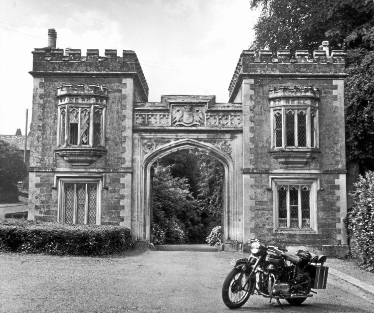 The beautiful 19th century gatehouse, at the enterance to a 500 acre park, at St. Germans.