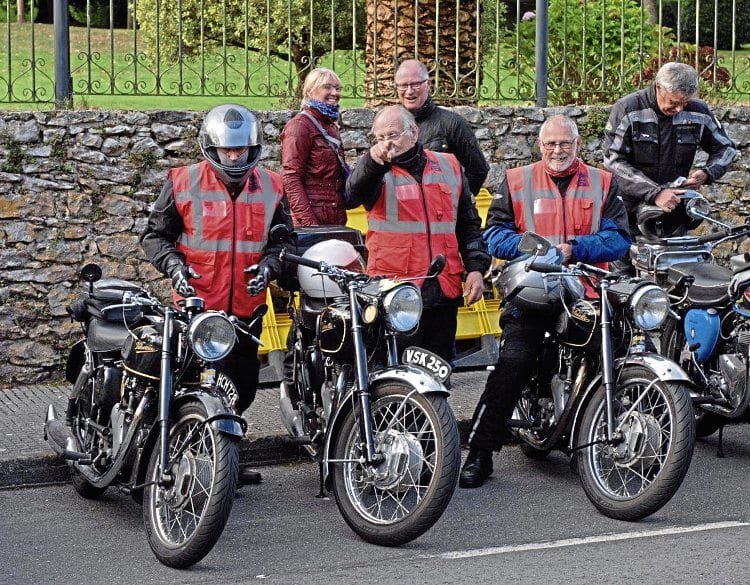 The Vintage Motor Cycle Club West Wilts lads took their Velocettes on tour.