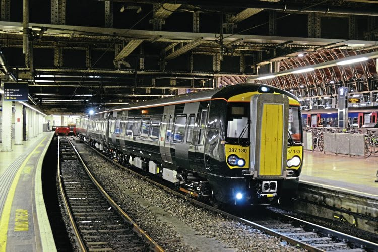 GWR Class 387 (no. 387130) stands at platform 11 of London Paddington station after working 5Z85 from North Pole IEP Depot to London Paddington at around 0100 on 29th July 2016. The unit was used for driver training of the Class 387 for future use on the Hayes shuttle and did three return trips from London Paddington to Heathrow Tunnel Junction during the early hours of 29th July before returning to the North Pole IEP Depot.