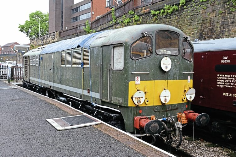 No. D5705 on display at Bury, East Lancashire Railway, on July 9. Paul Bickerdyke