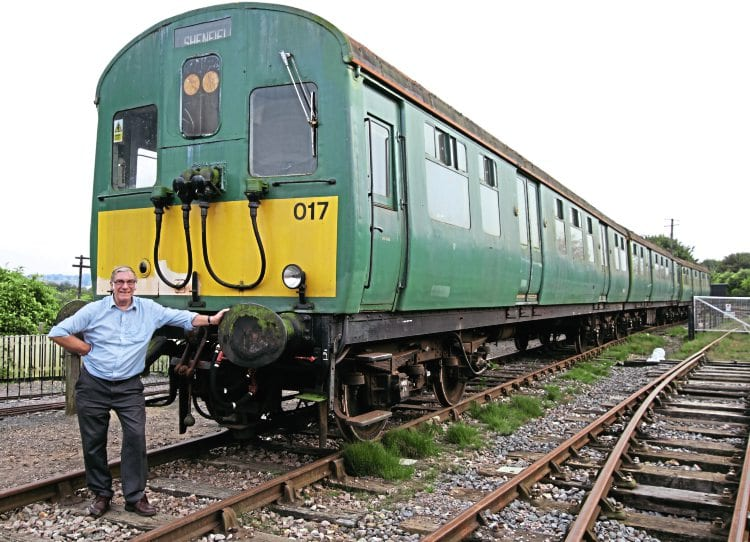 Pete Martin, who has been involved with No. 306017 in both BR days and preservation, poses in front of the unit at the East Anglian Railway Museum on September 19. All pictures by Christopher Westcott unless stated
