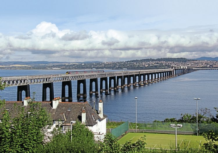 It's journey over the Tay Bridge almost complete, a Class 221 'Voyager' approaches Wormit on an Aberdeen to Penzance working on August 24, 2015. IAN LOTHIAN