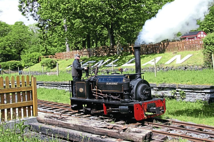 Nesta's sister – or should that be brother – Hunslet 0-4-0ST Alan George (HE606/1894) has long been a mainstay of Teifi Valley Railway services. It is pictured steaming through Henllan station in preparation to starting the day's services on May 26, 2014. CLIFF THOMAS