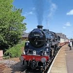 History is made on August 10 as the first North Norfolk Railway-organised train waits to return from Cromer in the hands of Standard '4MT' No. 76084. CHRIS MILNER