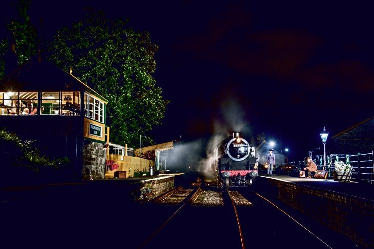 Timeline Events hired the restored one-third-mile section of original S&D track on September 9, and there was time for an atmospheric night shoot with the '4MT' tank and re-enactors. JACK BOSKETT