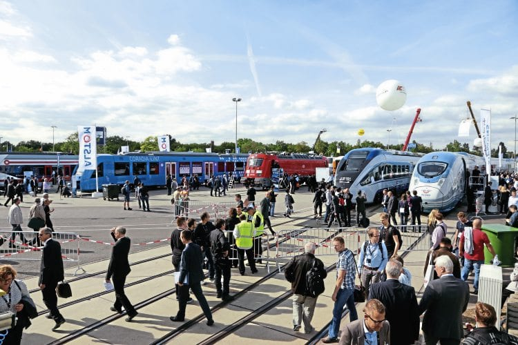 General view of the Innotrans 2016 show. All images: KEITH FENDER