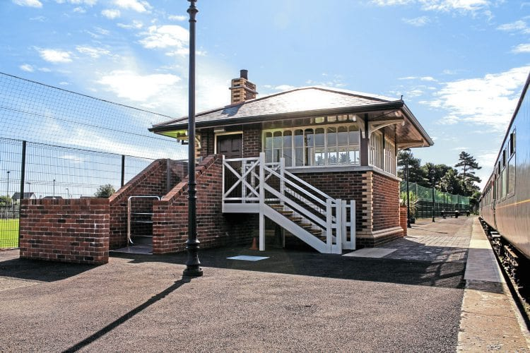 Part of the 12-month construction phase at Whitehead has involved the erection of a traditional-style signal cabin on the Whitehead Excursion station platform. MSM CONTRACTS