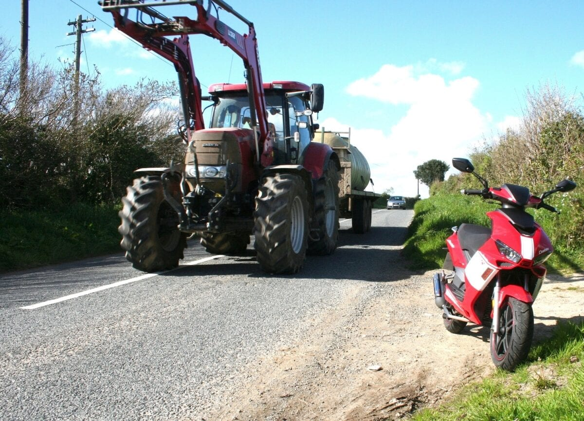 Big modern tractors aren't to be argued with...