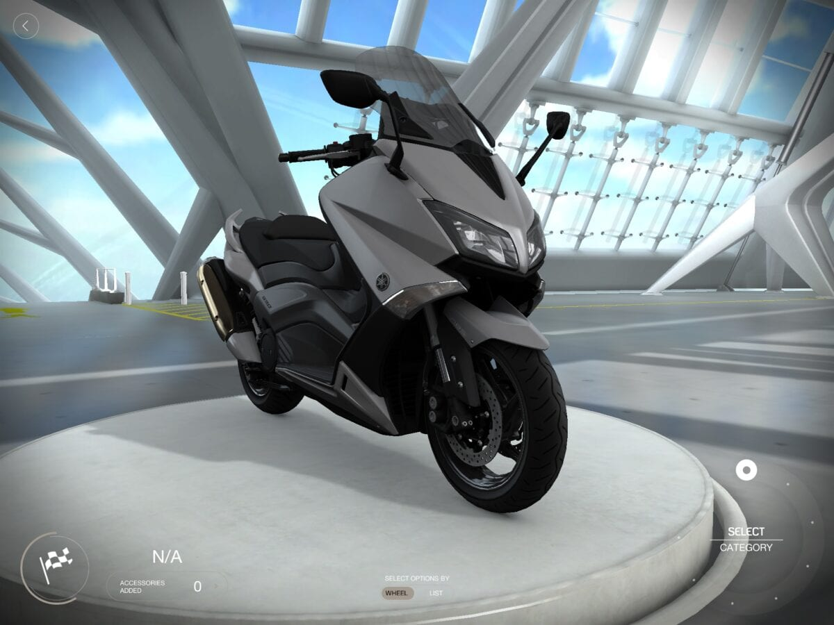 Build your dream scooter with yamaha my garage app on2wheels for Garage yamaha scooter